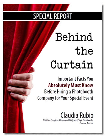 Behind the Curtain - Claudia Rubio - Hollywood Style Photobooths